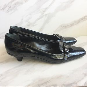 PRADA Black Patent Leather Kitten Heels